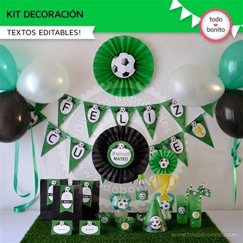 Decoracion de cumpleaños de futbol