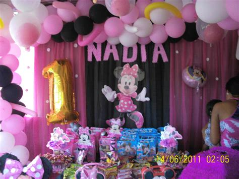 decoración de cumpleaños minie rosada | fiestas para niños ...
