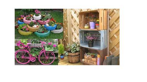 decoracion de jardines con materiales reciclados