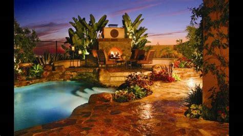 Decoración de jardines con piscina y chimenea   YouTube