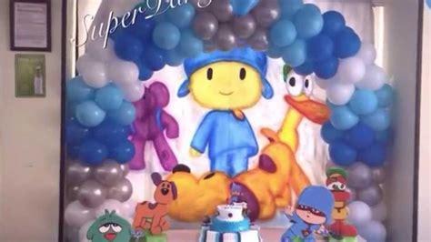 decoración de pocoyo para cumpleaños   con globos   SP ...