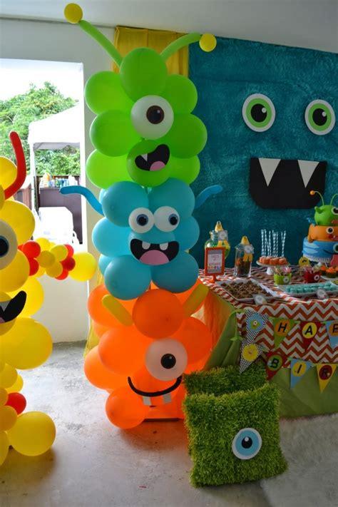 Decoración para fiesta temática con monstruos, idea en ...