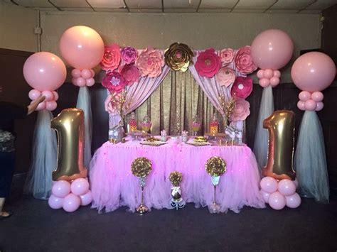 Decoracion rosa y dorado | Bautizo para niña | Pinterest ...