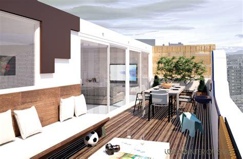decoración terrazas en aticos de moda