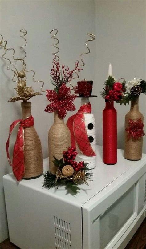 Decoraciones de botellas para Navidad   manualidades ...