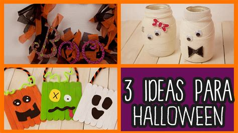 Decoraciones para Halloween 3 Ideas fáciles   Manualidades ...