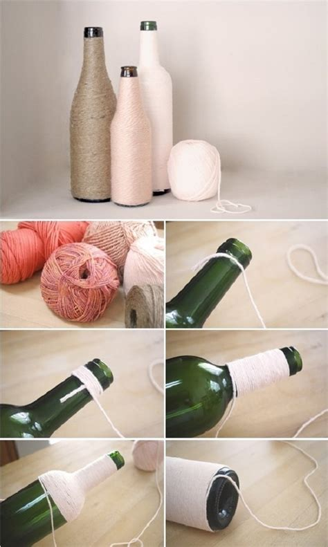 decorar botellas de vidrio 3 | Vivir Creativamente