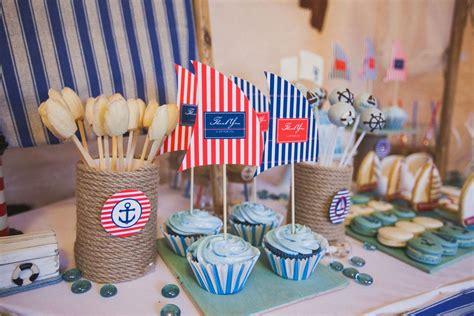 Decorar mesa de postres o cumpleaños de estilo marinero ...