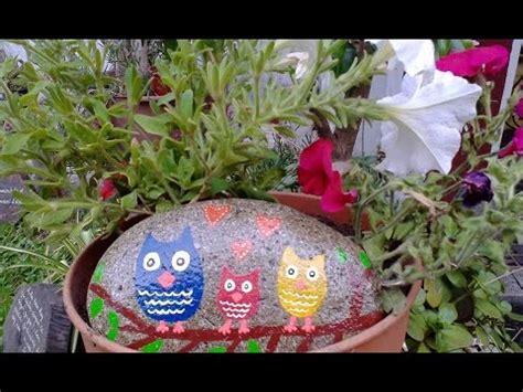 Decorar piedras con acrílicos para el jardín   YouTube