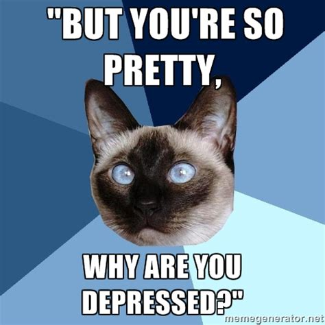 DEPRESSED CAT MEME GENERATOR image memes at relatably.com
