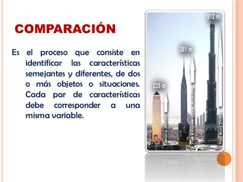 Descripcion comparacion relacion