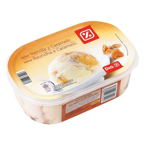 DIA helado vainilla y caramelo barqueta 500 gr | TARRINAS ...