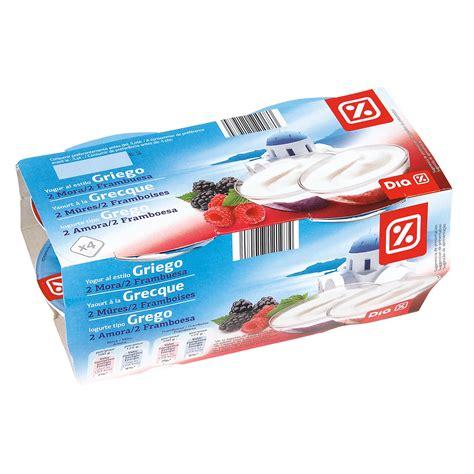 DIA yogur griego con moras / frambueas pack 4 unidades 125 ...