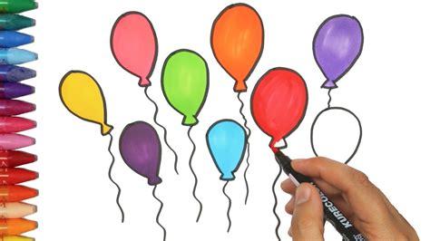 Dibujar Globos | Cómo dibujar y colorear los para niños ...