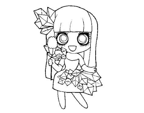 Dibujo de Chica con diamantes bonitos para Colorear ...