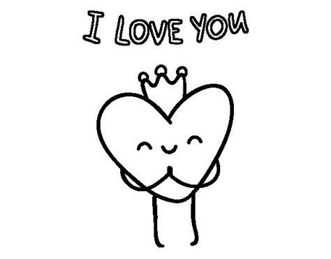 Dibujo de Corazón I love you para Colorear   Dibujos.net