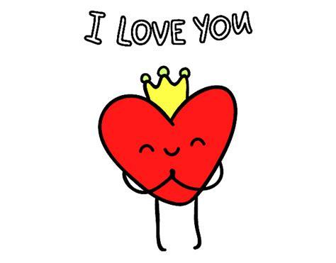 Dibujo de Corazón I love you pintado por en Dibujos.net el ...