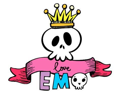 Dibujo de emo calavera pintado por Tei007 en Dibujos.net ...