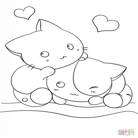 Dibujo De Gatitos Kawaii Para Colorear Dibujos Para ...
