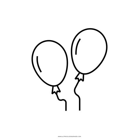 Dibujo De Globos Para Colorear   Ultra Coloring Pages