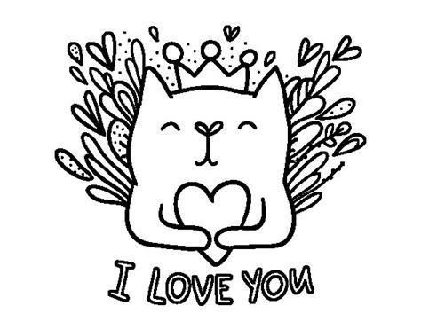 Dibujo de Mensaje de Amor para Colorear   Dibujos.net