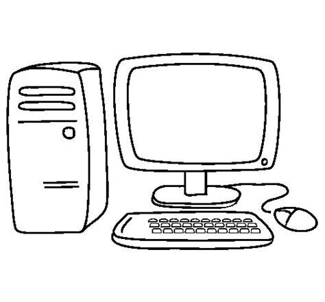 Dibujo de Ordenador 3 para Colorear   Dibujos.net