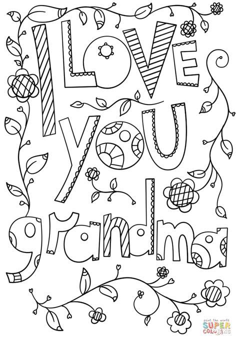 Dibujo de Te amo, abuela para colorear | Dibujos para ...