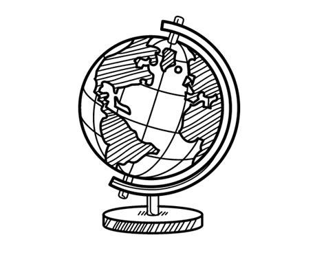 Dibujo de Un globo terráqueo para Colorear   Dibujos.net