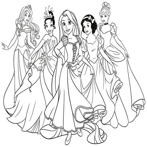 Dibujo De Una Princesa Para Colorear