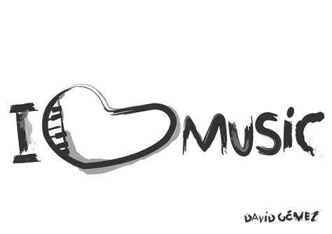 Dibujo I love music