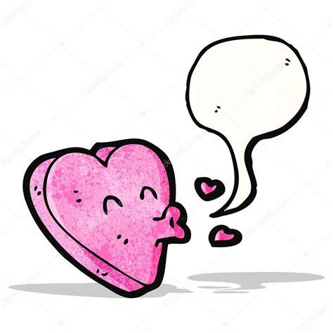 Dibujos animados de corazón besos — Vector de stock ...