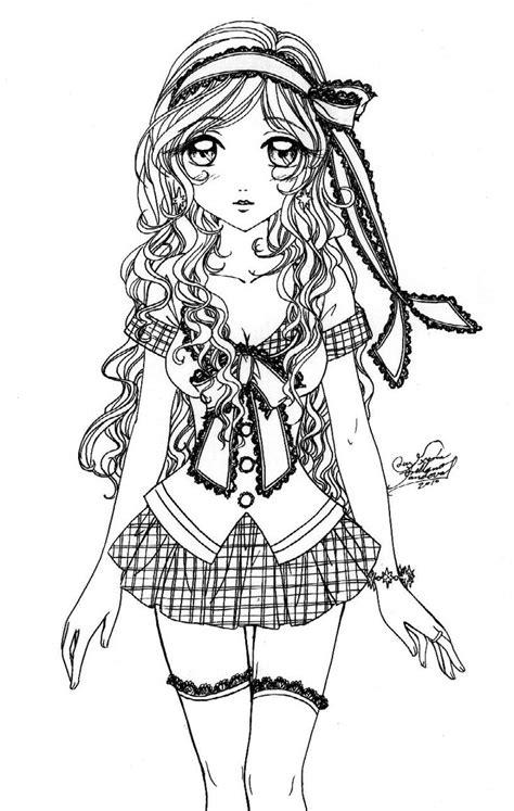 Dibujos Bonitos de Animes Para Colorear y Pintar   Animes ...