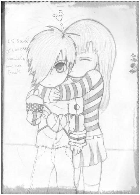 dibujos de amor de parejas anime a lápiz Archivos ...