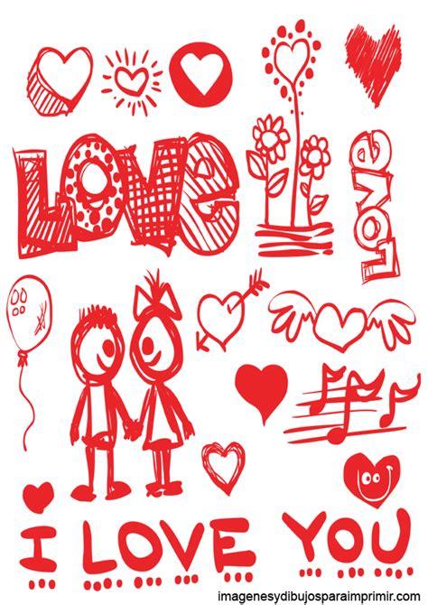 Dibujos de amor para imprimir
