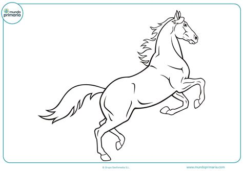 Dibujos de caballos para imprimir y colorear   Mundo Primaria