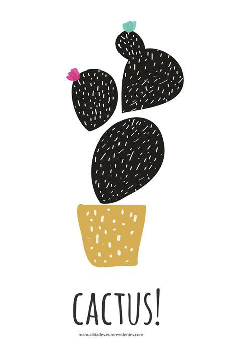 Dibujos de Cactus para imprimir   Manualidades