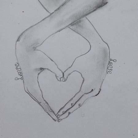 Dibujos de corazones a lápiz muy bonitos para descargar