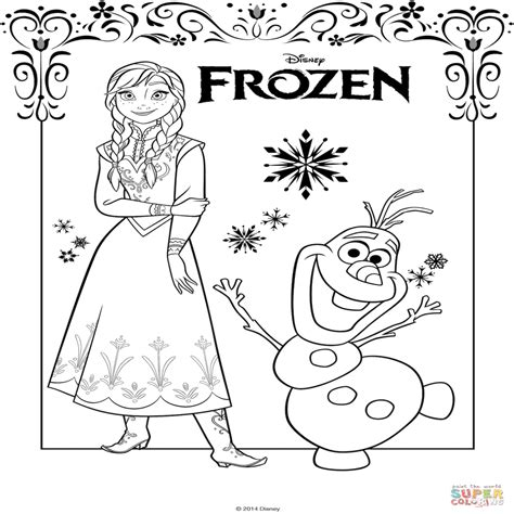 Dibujos De Frozen Para Colorear PÃ Ginas Para Imprimir Y ...