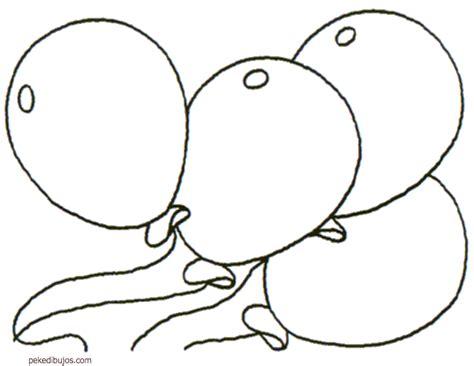 Dibujos de globos para colorear