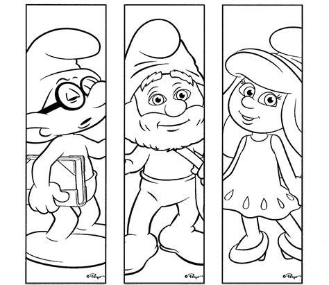 Dibujos de los Pitufos para colorear, pitufos imprimir gratis