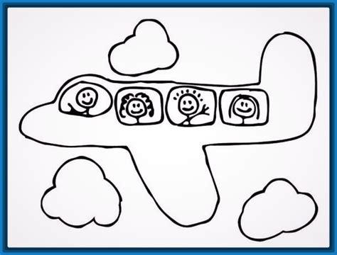 dibujos para colorear aviones infantiles para imprimir ...
