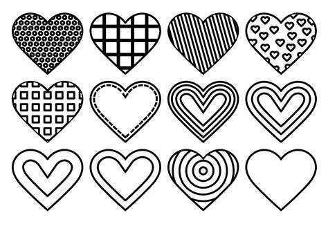 Dibujos Para Colorear De Corazones. Best Corazones De Amor ...
