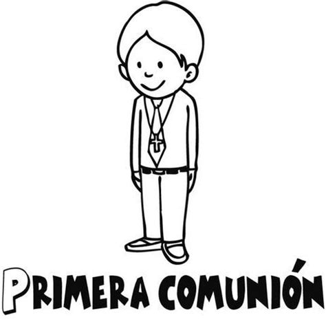 Dibujos para colorear de niño de comunion   Imagui