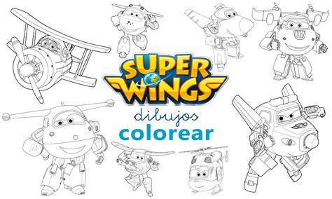 Dibujos para colorear de Super Wings   PAPELISIMO