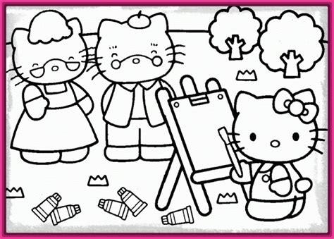 Dibujos para Colorear e Imprimir de Hello Kitty Muy ...