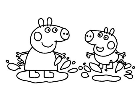 Dibujos para Colorear e Imprimir de Peppa Pig y Amigos