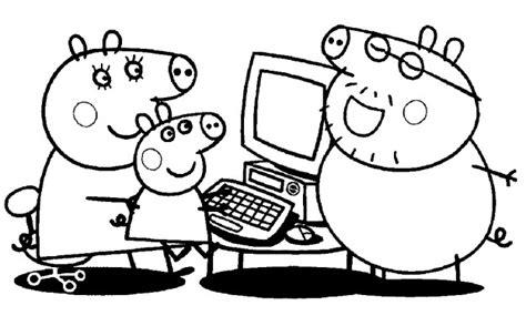 Dibujos para Colorear Peppa Pig Imprimir Online Bonitos