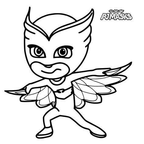 Dibujos Para Colorear Pj Masks Heroes En Pijamas Dibujos ...