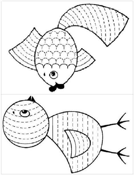 Dibujos para delinear para niños   Fichas de primaria