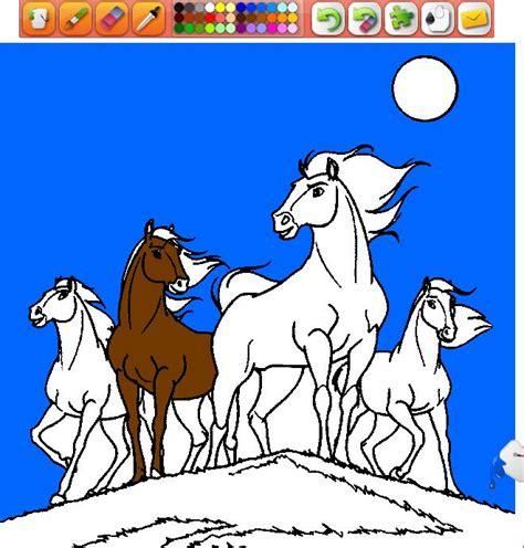 Dibujos para pintar en el ordenador animales | Caballos en ...